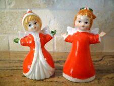Lot of 2 Vintage Flambro Holiday Christmas Angel Figurines