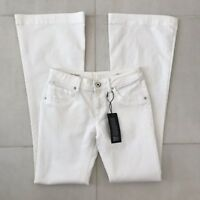 DL1961 Joy High Rise Flare White Cotton Stretch Jeans Sz 26