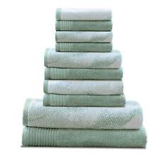 Marble Cotton 10-Piece Bath Towel Hand Towel Face Towel Set by Blue Nile Mills