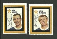 Boston Bruins NHL Hockey 1971 Colgate Stamps Ken Hodge Johnny McKenzie