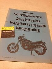 Honda VF750S VF750 S sports VF 750 instruction preparation setup manuel
