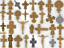 STL Models for CNC machine tools. Crucifix, Crosses, Jesus.