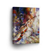 Modern Oil Painting on Canvas Print Wall Decor Art Framed /%100 Handmade OPH7