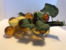 Vintage Lucite Amber Grapes Cluster Driftwood