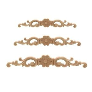 European-style Home Decorates Dongyang Wood Carving White Embryo Long Applique
