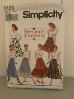 Simplicity #8193 Sewing Pattern Square Dancing Skirt  Misses 18-20-22 New Uncut