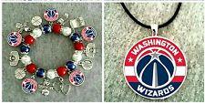 NBA Washington Wizards necklace and bracelet set