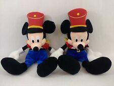 "2 x Disney Store Mickey Mouse 27"" Christmas Plush Toy Nutcracker Toy Soldier"