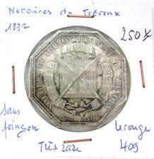 JETON NOTAIRES - TREVOUX - SANS POINÇON - 1832 - TRÈS RARE - LEROUGE 409