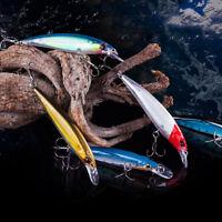 11CM LUMINOUS FISHING WOBBLER MINNOW ARTIFICIAL FISH LURES BAIT TACKLE TOOL ORNA