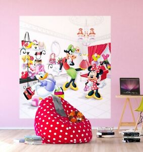Minnie Mouse Wandbild Tapete Kinderzimmer Premium Disney Wand Dekoration