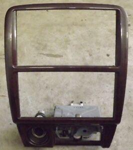 OEM 97-01 Toyota Camry XLE XV20 radio 12V ashtray console panel bezel cover wood
