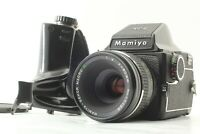 【EXC+5】 Mamiya M645 Prism Finder + Sekor Macro C 80mm f/4 Lens Grip from JAPAN