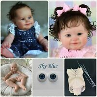 "22"" Realistic Dolls Unpainted Kits Silicone Baby Reborn Dolls Blank Mold Set DIY"
