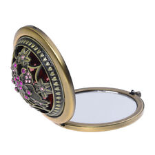 Bronzo Retro Compatto / Viaggi / tascabile ILLUMINATA Bellezza Make Specchi Q3S2