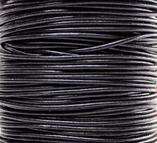 Genuine Round Leather Cord 2MM 2.0 MM DIY Craft Supplies 50 meters yards 50m