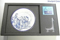 2010 SYDNEY COVE MEDALLION WITH WEDGEWOOD PLATE Silver 1oz Proof Coin
