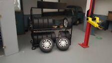 American Diorama 77518 Zubehör - Metall Reifengestell inkl. Reifen 1:18