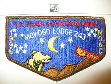 OA Mowogo Lodge 243,S-38, 1996 NOAC Night Bear Flap,Northeast Georgia Council,GA