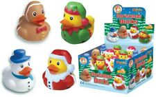 4 Christmas Rubber Ducks - Stocking Toy Loot/Party Bag Fillers Childrens/Kids