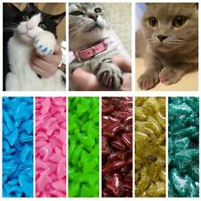 colorful Cat Nail Caps soft cat Claw Soft Paws 20 Pcs/lot with free glue