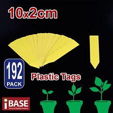 192x Plant Marker Garden Labels Flexible Plastic Tag Nursey Seedling 10x2 Yellow