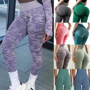 Women Seamless High Waiste Leggings Butt Lift Yoga Pants Tummy Control Workout