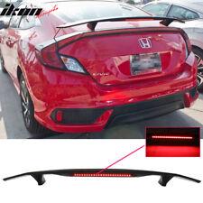 Universal Fit Glossy Black Trunk Spoiler Wing & 3RD Brake LED Light - ABS