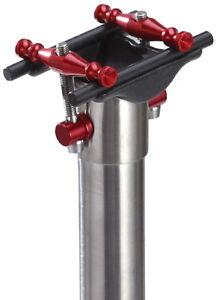 J&L Ultra Light Titanium Seatpost+ Carbon Cradle 27.2/31.6MM*400mm-Fit 7*9 Rails