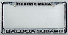 RARE Kearny Mesa California Balboa Subaru JDM Vintage Dealer License Plate Frame