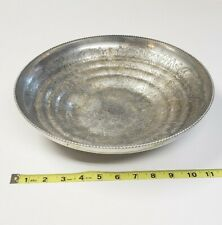 "12"" Hand Wrought Aluminum Bowl/Plate"