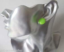 100% PLASTIC 16mm shiny button style stud earrings - 11 gorgeous colour options