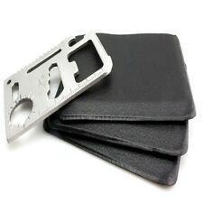 3PCS 11 in 1 Multi Tool Lot, wallet thin pocket survival credit card micro knife