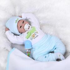 22''Handmade Lifelike Baby Reborn Boy Dolls Solid Silicone Vinyl Doll 55cm New