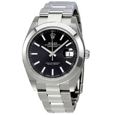 Rolex Datejust 41 Black Dial Automatic Stainless Steel Mens Watch 126300BKSO