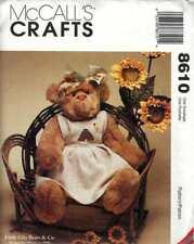 "Bear Doll Pattern Honey Bear 20 "" Pinafore Great Gift Idea !"