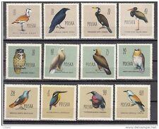 POLEN 1960 non-cancelled sets Birds-1062-73