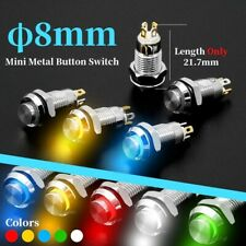 8mm Metal Push Button Switch Led Momentary Latching Waterproof 4pins High Head