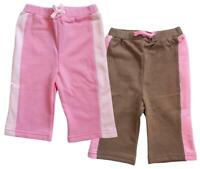 Girls Shorts Cotton Pink Brown Value 2 Pack Knee Length Kids 9 Months to 4 Years