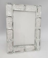 Crystal Block Design Large Photo Frame. Takes one 4X6 Inch photo.