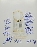 Cey Garvey Steve Yeager Mota Russell 1981 Dodgers WS Champion 16x20 Signed Photo