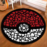 Round Floor Mat Kids Bedroom Carpet Living Room Area Rugs Anime Pokemon Abstract