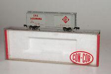 CON-COR N SCALE ERIE LACKAWANNA EL #90138 40' STEEL BOXCAR, NICE, ORIGINAL