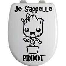 Sticker Fun Abattant toilette GROOT 2 - Vinyl brillant couleur au choix