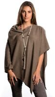 CASHMERE Poncho  BROWN CAPE Wrap One Size Fits All, FREE UK Shipping,