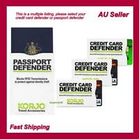 Korjo Credit Card/Passport Defender Pack RFID Shield/Shielding Protect Security