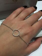 18CT WHITE GOLD FINE CIRCLE LADIES 0.15CT FVS DIAMOND BRACELET GOY436