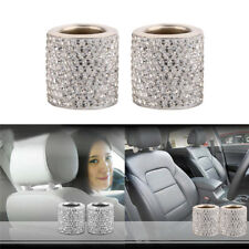 Universal Car Shiny Crystal Headrest Rings  Removable For Front And Back Seat