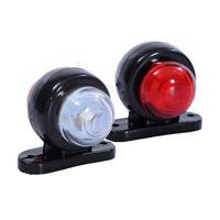 Red White LED Lights 12V-24V Side Marker Lights Trailer Truck Indicator Lamp