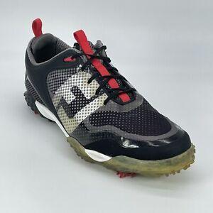 FootJoy Mens Flex-Zone Freestyle 57333 Black Soft Spike Golf Shoes Size 11.5
